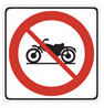 closed to motorcycles